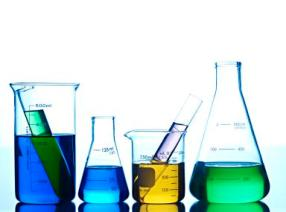 test tubes with liquids